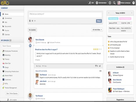 eXo Platform 4 Homepage
